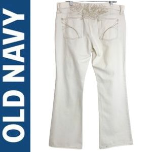 Old Navy Ultra Low Waist Bootcut Distressed Jeans